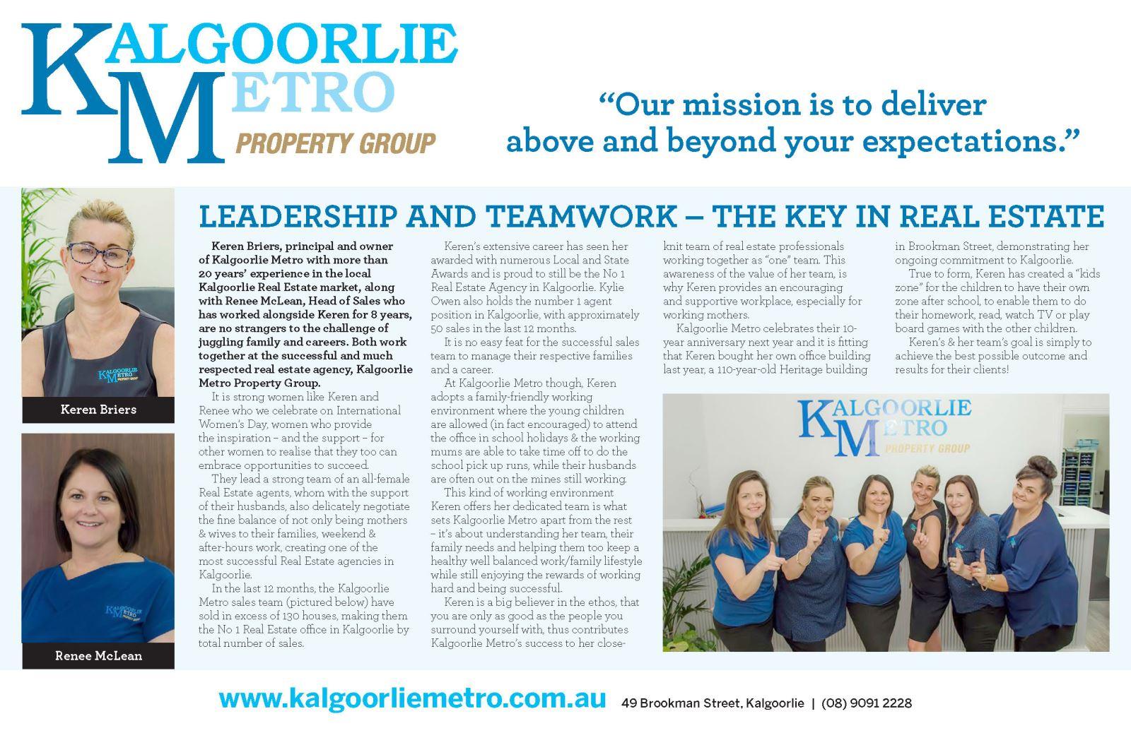 International Women's Day 2018 - Kalgoorlie Miner Article