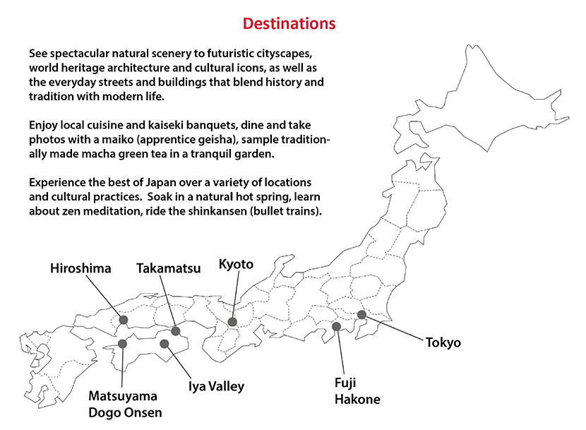 Shoji Australia Discover Japan Grand Spring Tour 2019 Destinations