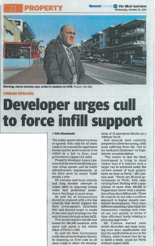 Developer urges cull to force infill support