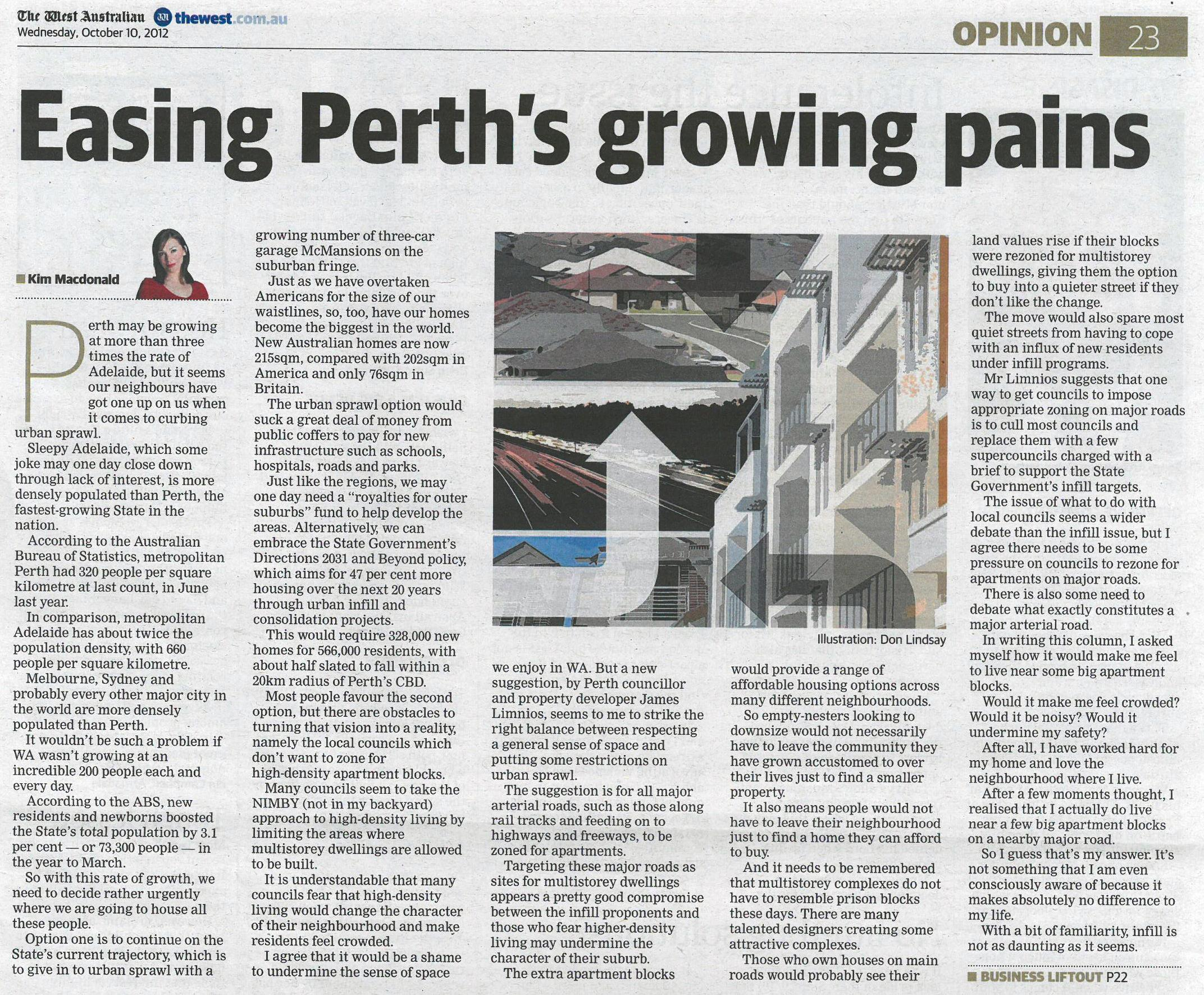 Easing Perth's growing pains